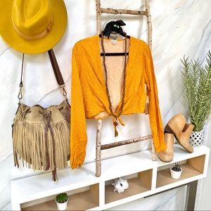 🧡GARAGE▪️BOHO crop top NWT